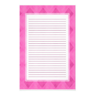 Pink Diamond Lined Stationery