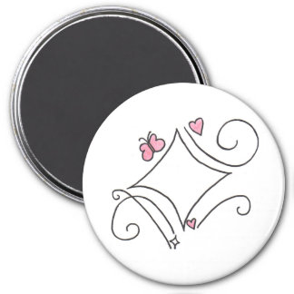 Pink diamond magnet