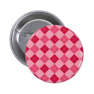 Pink Diamond Plaid Button