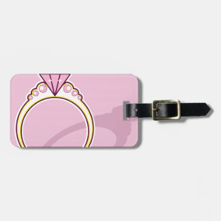 Pink Diamond Ring Bag Tag
