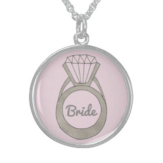 Pink Diamond Ring BRIDE Wedding Gift Necklace