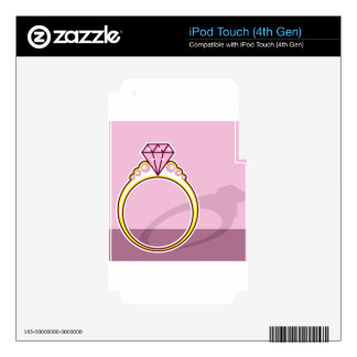 Pink Diamond Ring iPod Touch 4G Decals
