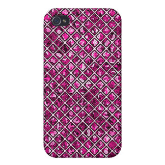 Pink Diamond Stained Glass Style iPhone 4/4S Cover