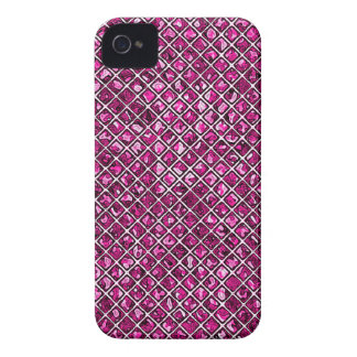 Pink Diamond Stained Glass Style iPhone 4 Case-Mate Case