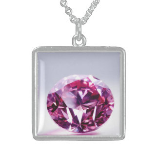 PINK DIAMOND STERLING SILVER NECKLACE