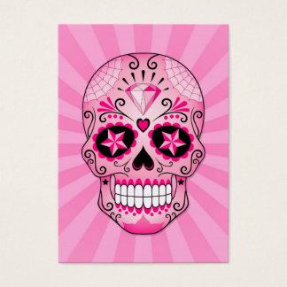 Pink Diamond Sugar Skull Business Card