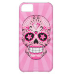 Pink Diamond Sugar Skull Cover For iPhone 5C