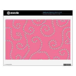 Pink diamond swirls netbook skins