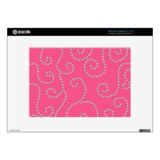pink diamond swirls netbook decals