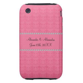 Pink diamond wedding favors iPhone 3 tough covers