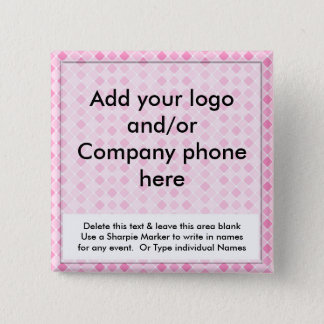 Pink Diamonds Event Business Name Badges Tags Pins