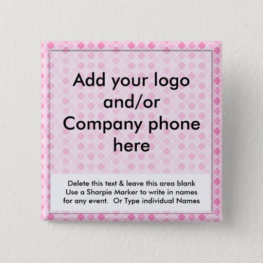 pink diamonds event business name badges tags pins zazzle com