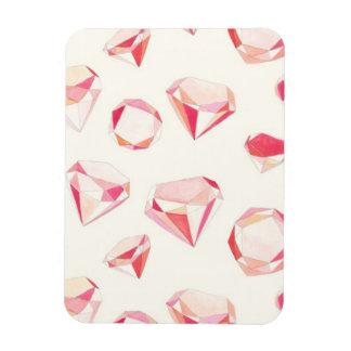 Pink Diamonds Geometric Hand Drawn Magnet