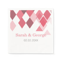 pink diamonds Geometrical personalized napkins