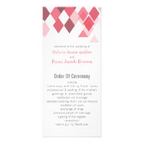pink diamonds Geometrical wedding programs