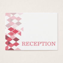 pink diamonds Geometrical wedding reception invite