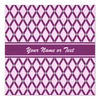 Pink Diamonds-Magenta Purple Frames Invitation