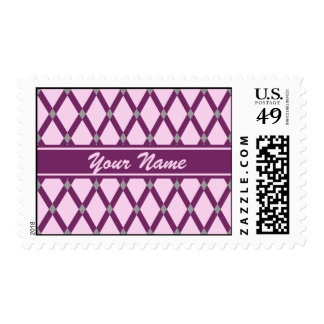 Pink Diamonds-Magenta Purple Frames Postage