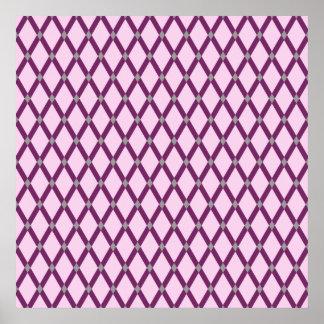 Pink Diamonds-Magenta Purple Frames Poster