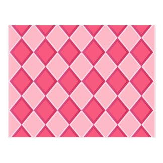 Pink Diamonds Postcard