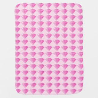 Pink Diamonds Receiving Blanket