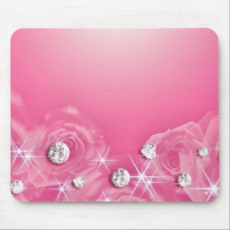 Pink  - Diamonds & Roses Mouse Pad