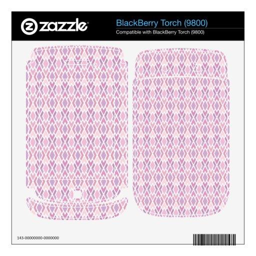Pink diamonds BlackBerry torch decals