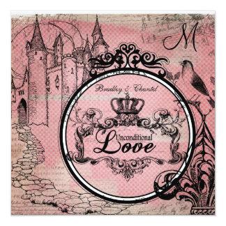 Pink Diamonds Unconditional Love Wedding Invite