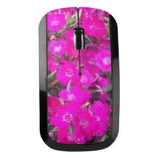 Pink Dianthus Flowers Wireless Mouse