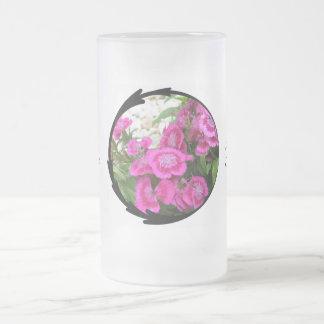 Pink Dianthus/Sweet William Coffee Mugs