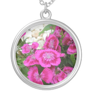 Pink Dianthus/Sweet William Necklaces
