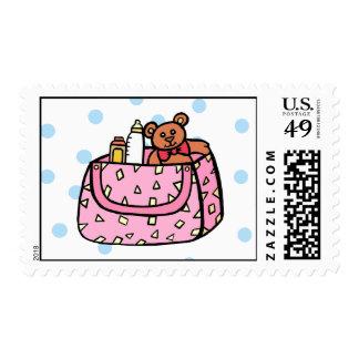 pink diaper bag stamp