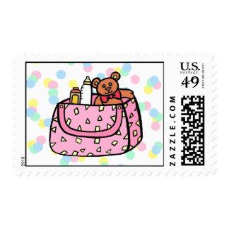pink diaper bag postage