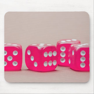 Pink Dice 2 Mouse Pad