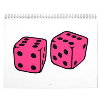 Pink dice calendar