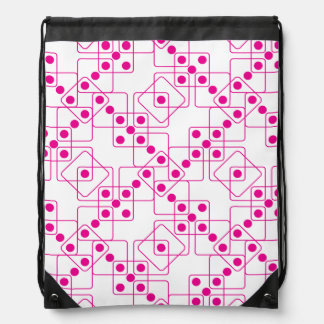 Pink Dice Drawstring Bag