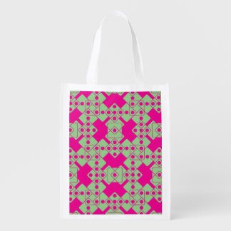 Pink Dice Grocery Bag