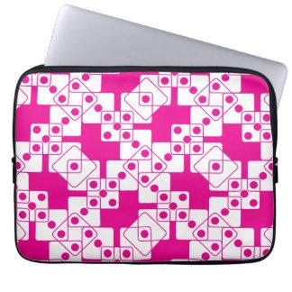 Pink Dice Laptop Computer Sleeve