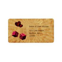 pink dice Vintage Vegas adress labels