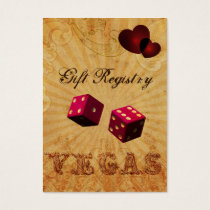 pink dice Vintage Vegas Gift registry Business Card