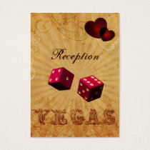 pink dice Vintage Vegas reception cards
