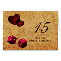 pink dice Vintage Vegas table numbers