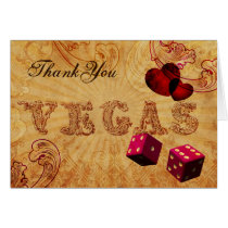 pink dice Vintage Vegas Thank You Card
