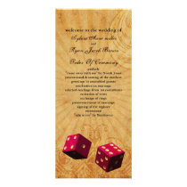 pink dice Vintage Vegas wedding program