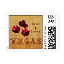 pink dice Vintage Vegas  wedding stamps