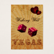 pink dice Vintage Vegas wishing well card