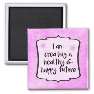 Pink Diet Fitness WeightLoss Success Quote Magnet