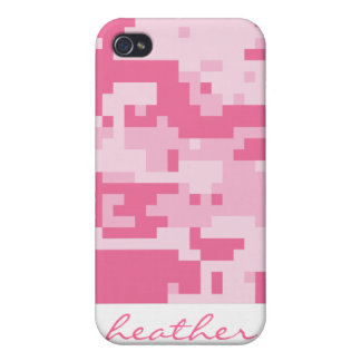 Pink Digital ACU Camoflage Pattern Covers For iPhone 4
