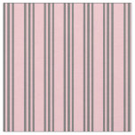 [ Thumbnail: Pink & Dim Grey Stripes Fabric ]