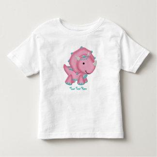 Pink Dino (customizable) Toddler T-shirt